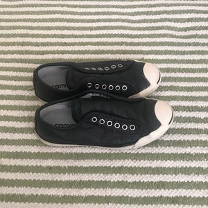 Leather Jack Purcell Converse slip on